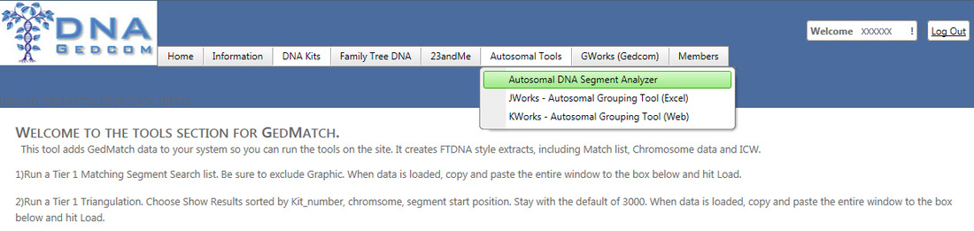 Link for Autosomal DNA Segment Analyzer on DNAGEDcom