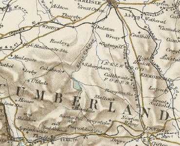 Old Map of Castle Sowerby area