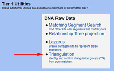 GEDmatch Segment Triangulation Link