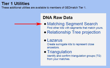 GEDmatch Matching Segment Search Link