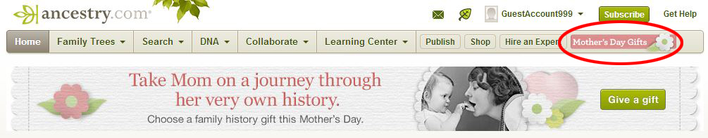 AncestryDNA Mother's Day Sale 2014